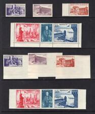 Monaco 1947 Perf & Imperforated Set - Og Mnh - Sc# C16-C20,203 No Reserve!