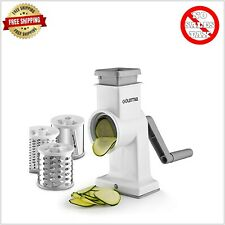 Rotary Cheese Grater Hand Crank Stainless Steel Manual Vegetable Slicer Drum Set