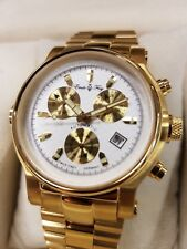 Emile Frey automatic watch set ip gold with spare leather strap RRP 599$