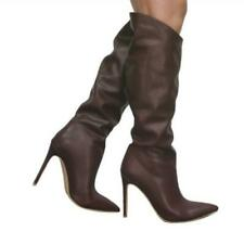 Europe Ladies Womens Knee High Slouch Stiletto Heel Pull On Knight Boots Club L