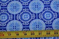 "By 1/2 Yd, Blue Circles on Blue Quilt Cotton, Moda/Deb Strain/""Spa""/Japan, N3240"