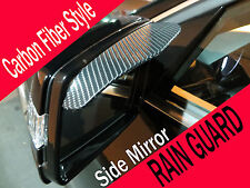 Black CARBON FIBER Mirror Rain Snow Shade Guard Visor #bm3