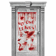 1.65m cirugía de Halloween fiesta terror Embrujada Cartel Banner Decoración de Puerta