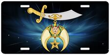 Shriner Space License Plate Masonic Shrine Mason Truck Auto Car Tag Emblem