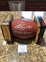 Jordy Nelson Signed Official Super Bowl XLV NFL DUKE Football Beckett COA 1