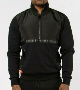 Men's BADR covert zip jumper jacket - Black RRP £64.99 size xxl (2xl)