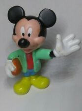 College Mickey Mouse Holding Football PVC Disney Action Figure