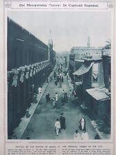 1917 CAPTURE OF BAGHDAD, MAIN STREET OF THE CITY, MESOPOTAMIA WWI WW1