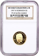 1997-W Jackie Robinson $5 NGC PR 69 UCAM (US Vault Collection L/M)