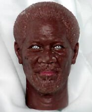 "1/6 scale unpainted action figure head sculpt morgan freeman 12"" cast"