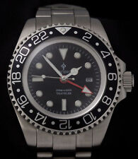 Ticino Traveler submariner seadweller  Diver Watch glidelock  – eta 2836 clone