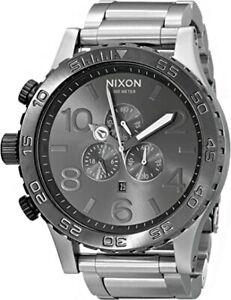 Nixon 51-30 Chrono Black Silver Gunmetal ⓒⓞⓞⓛ 🤖 A083-1762 51mm A0831762 Watch