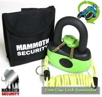 New Motorcycle Security Disc Lock Mammoth Thatcham Approved (Free Lock Reminder)