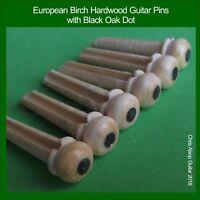 Guitar Bridge Pins 5.5mm 3 degree taper. Birch Hardwood & Black Oak PP052