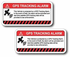 "GPS Alarm System Tracker Warning Sticker Decal Safety Car Vinyl 2 decals 2""x4"""