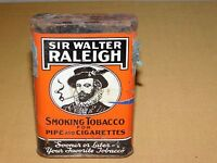 VINTAGE SIR WALTER RALEIGH PIPE & CIGARETTES SMOKING TOBACCO TIN *EMPTY**