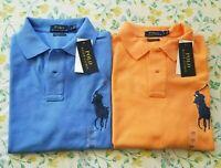 New Mens Polo Ralph Lauren Custom Slim Fit Mesh Polo Shirts Short Sleeve