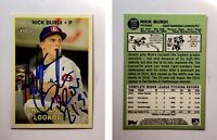 Nick Burdi Signed 2016 Topps Heritage Minors #125 Card Twins Autograph Auto
