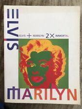 Elvis + Marilyn 2 x Immortal Japan Exhibition Catalog Book Program Andy Warhol