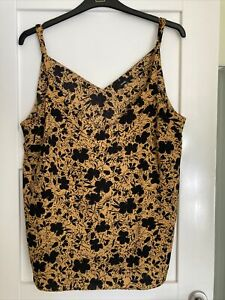 Ladies George Floral Camisole Top Adjustable Straps Size 20 New Without Tags