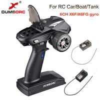 DumboRC X6 2.4G 6CH Transmitter With 6CH X6F Gyro Receiver For RC Car Boat Tank