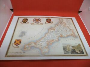 scilly isles CORNWALL new art print repro ANTIQUE COUNTY MAP thomas moule 1800s