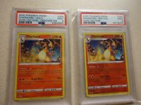 2020 POKEMON SWSH CHARIZARD HOLO CRACKED ICE AND REV.FOIL VIVID VOLTAGE PSA GRAD