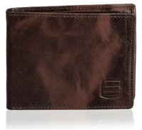 Suvelle Leather Bifold Wallet With Removable Flip up ID Window