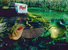 Bud Frogs Ii Budweiser Ltd Ed Lithocel Cel Ad Art Commercial Anheuser Busch Beer
