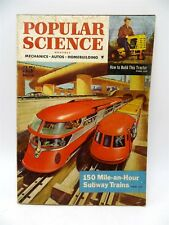 Popular Science - March 1954 - Build A Tractor / 150 MPH Trains / Willys Jeep