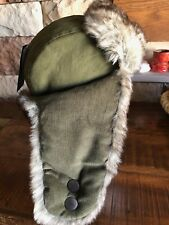 Woolrich Trapper/Aviator Hat with Faux Fur Zipper Pocket On Flap Flaps Snap SZ M