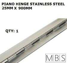 1 x 25mm Open Width Piano Continuous Hinge - Stainless Steel 900mm Trailer DIY