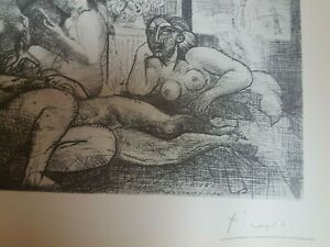 Pablo Picasso original lithograph Vollard Suite 1956 hand signed