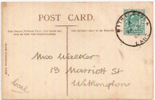 1903 WITHINGTON Lancashire skeleton pmk Edward VIII photo PC 1/2d KEVII