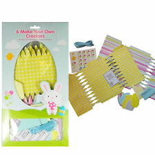 Easter Arts and Craft Decorations, Craft Kits, 6 Make Your Own Crackers