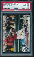 2018 Topps Holiday Victor Robles RC Card #189 #HMW189 PSA 10 Gem Mint Rookie