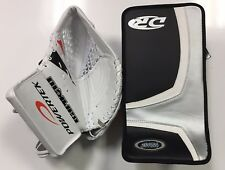 SPECIAL New ice hockey goalie blocker/catcher junior Jr goal glove set orange