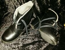 RIVERS LADIES black with gray trim ANKLE BOOTS SIZE 38