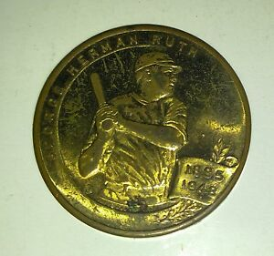 """1948 George Herman BABE RUTH Story Astor Theatre 1.25"""" Coin VG 4.0 RARE"""
