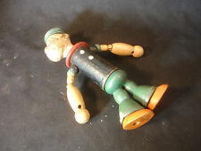 Old Vtg J. Chein Popeye Doll King Features Syndicate Wood Composition Jointed