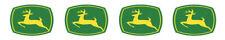 1 Inch John Deere Die Cut Vinyl Peel And Stick Decal Sticker 4 Decals Nylint