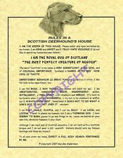 Rules In A Scottish Deerhound's House
