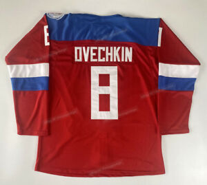 2016 Alexander Ovechkin #8 Russia Hockey Jerseys Stitched Custom Names