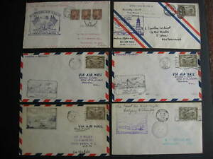 Canada 6 old first flight covers FFC 1929 to 1935 era check these out!