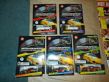 """NEW OLD STOCK! TEXACO """"NEED FOR SPEED """" FULL  FIVE CAR SET - 1/64 SCALE"""