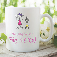 Big Brother Mugs I'm Going To Be A Big Sister New Baby Shower Coffee WSDMUG902