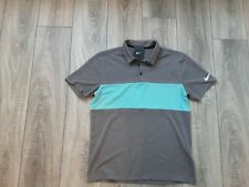 New 2020 Nike tour golf dri-fit polo shirt grey & green medium soft feel stretch