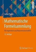 Mathematische Formelsammlung - Lothar Papula - 9783658161941 PORTOFREI