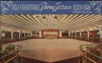 Omaha NE Peony Park Terrace Dance Floor Linen Postcard