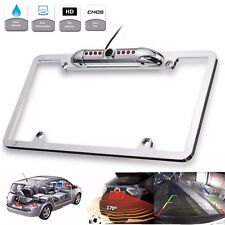 Car Rear View Backup Camera 8 LED Night Vision License Plate Frame Mount HD CMOS